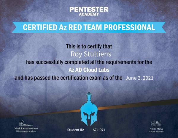 cartp certificate
